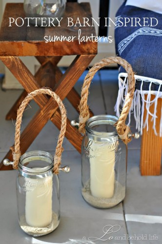 DIY Pottery Barn Summer Lanterns