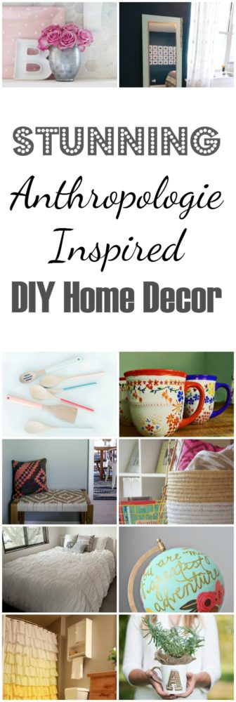 Anthropologie inspired diy home decor hacks painted Anthropologie home decor ideas