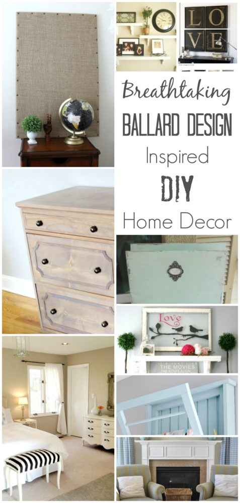 DIY Ballard Design Inspired Home Decor - Painted Furniture Ideas