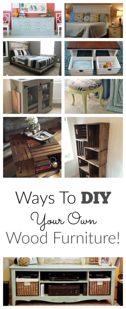 ways to diy your own furniture