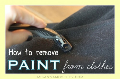 How To Remove Chalk Paint From Clothes