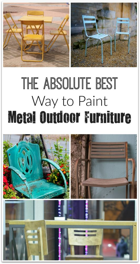 The Best Way To Paint Metal Outdoor Furniture Painted Furniture
