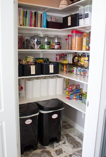 pantry storage ideas  painted furniture ideas Rust-Oleum Cabinet Transformations Castle Kitchen Transformation Dark Wood Floors