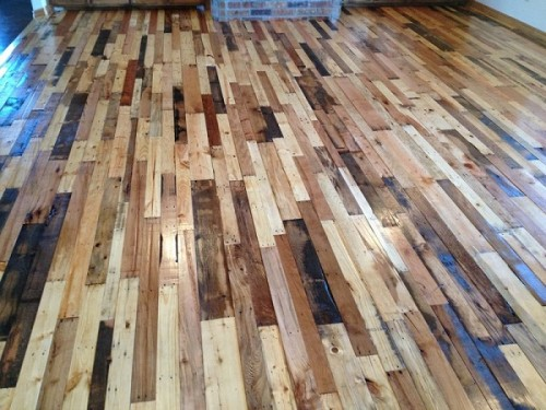 Did You Know You Can Make A Floor Out Of Pallets? Using Pallets For Free,  Or Very Low Price, You Can Put In A Hardwood Flooring. Make Sure You Rent A  Large ...
