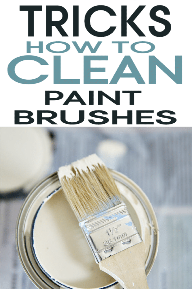Take a minute to learn these great tricks to cleaning paint off brushes