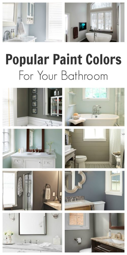 Popular Paint Colors for Your Bathroom