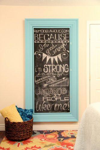 Chalkboard Paint Frame