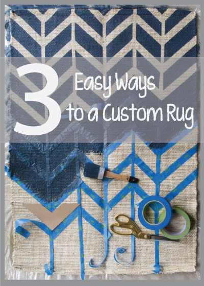 How to paint a custom rug
