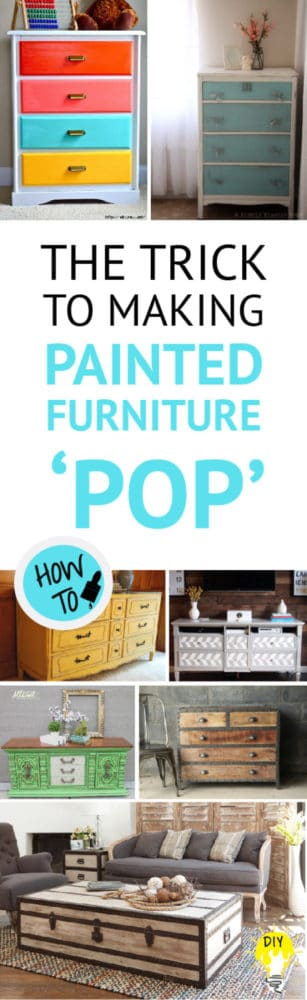 how to make painted furniture pop