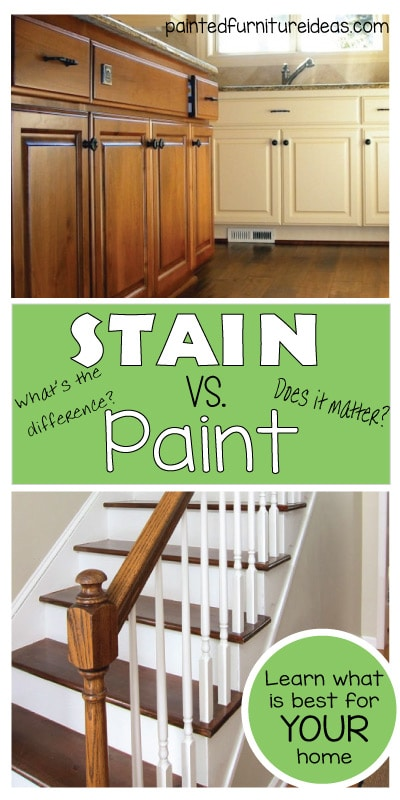 Difference Between Painting And Staining Kitchen Cabinets