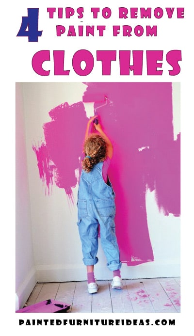 get paint out of clothing
