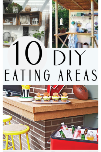 I LOVE eating outside on the patio or deck. These inspiring DIY eating areas are brilliant!