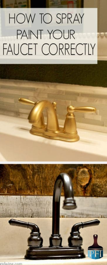 How to spray paint your Faucet Correctly - Painted Furniture Ideas
