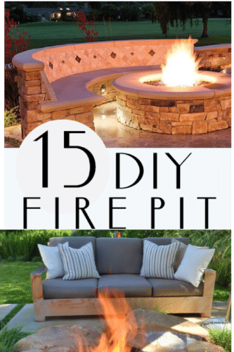 Check out these 15 DIY fire pit ideas! PAINTEDFURNITUREIDEAS.COM