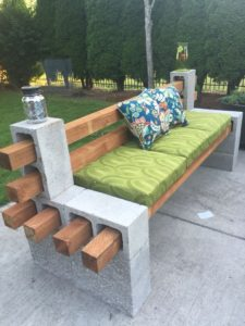 Cinder Block: A Few Cinder Blocks And A Few Posts And You Have Yourself An  Outdoor Bench! The Cushions Make It A Cozy Spot That You Can Easily Put  Together ...