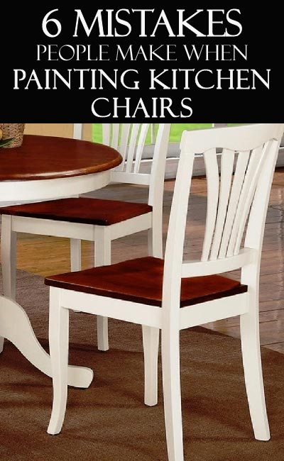 Learn how to paint your kitchen chairs correctly! Don't make these mistakes!