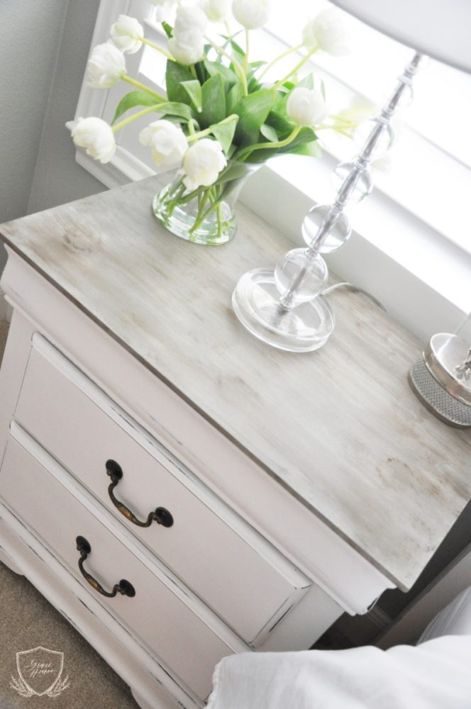 painted nightstand chalk
