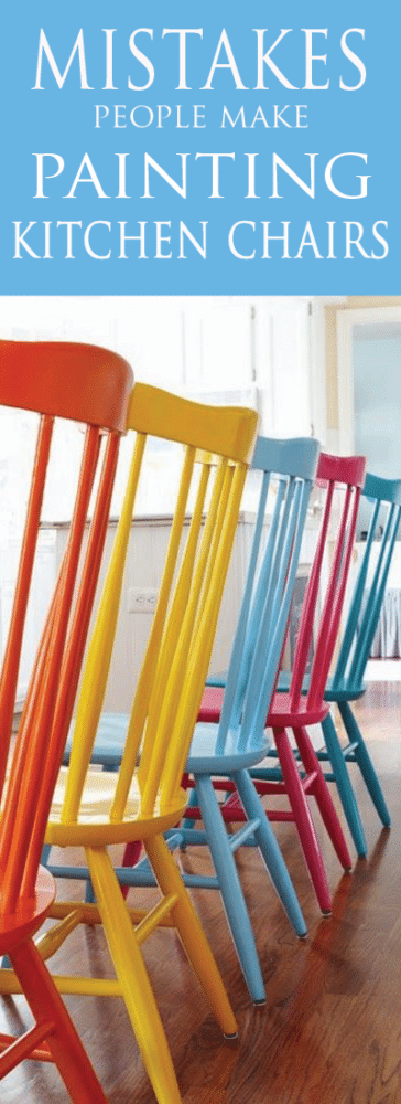 The Worst Mistake People Make When Placing Under Counter: 6 Mistakes People Make When Painting Kitchen Chairs
