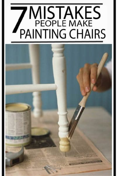 DIY painted furniture tips for kitchen chairs. Learn what to avoid to get a professional finish!