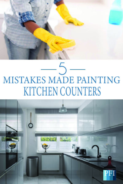Paint kitchen counters like a boss! Learn what not to do first and do it right!