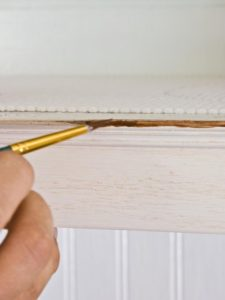 diy glazing kitchen cabinet grooves