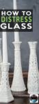 distress glass vase