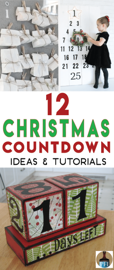 12 christmas countdown ideas painted furniture ideas - Christmas Countdown Ideas