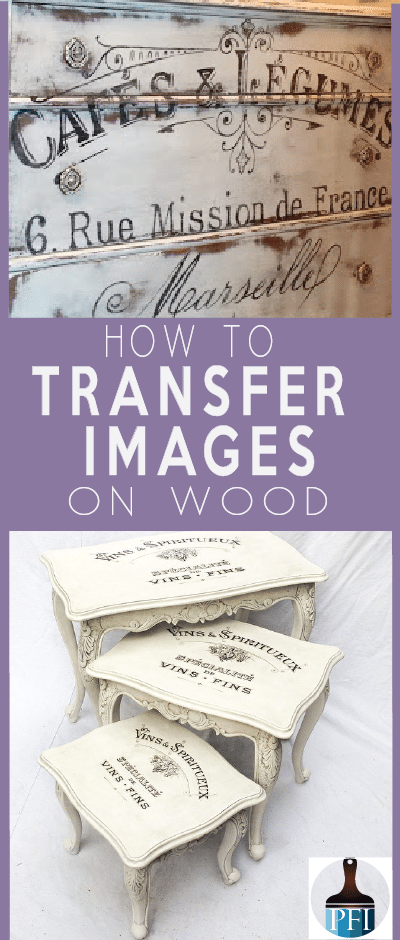 transfer images on wood