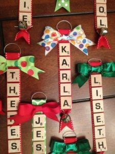 Christmas name ornament scrabble