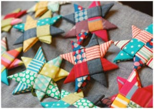 fabric star ornament