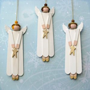 angel ornaments stick