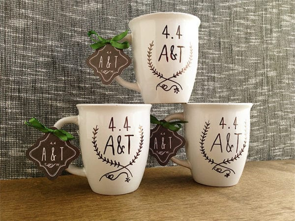 painted personal mugs