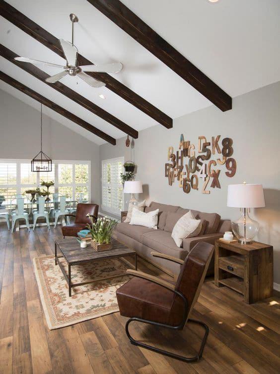 living room Farmhouse paint colors