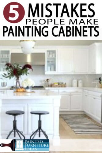 Learn how to paint your kitchen cabinets correctly. Avoid these major mistakes while remodeling your kitchen and bath!