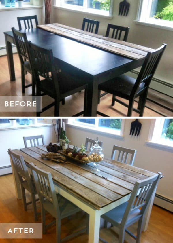 Top 10 kitchen table transformations painted furniture ideas for Painted kitchen table ideas