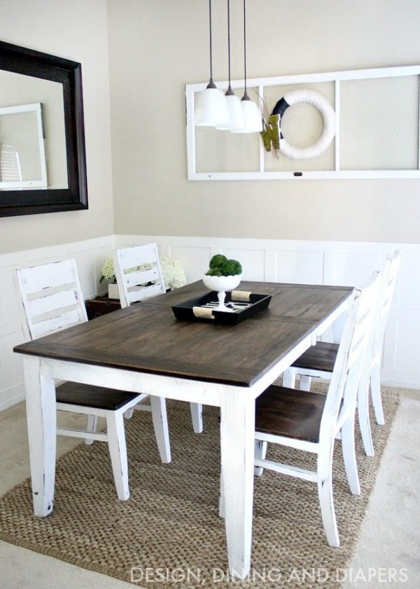table makeover stain