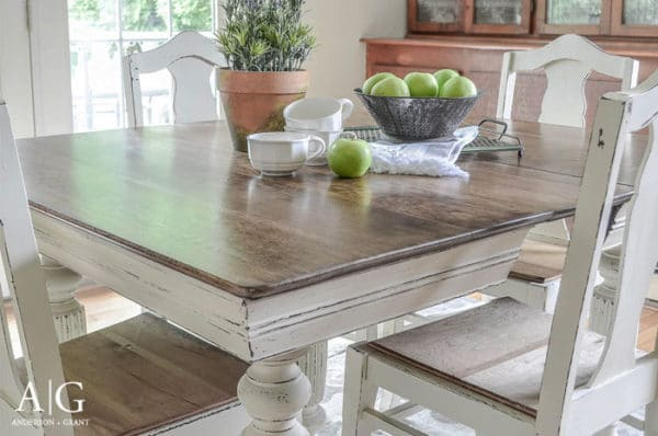 table makeover farmhouse