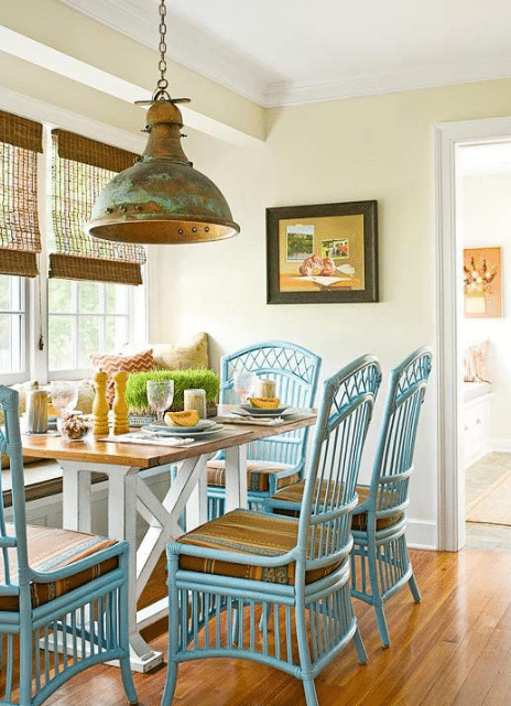 table makeover kitchen blue