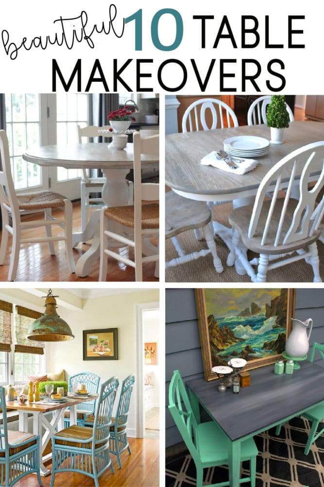 Check out these beautiful table makeovers! DIY paint your own table by learning from others.