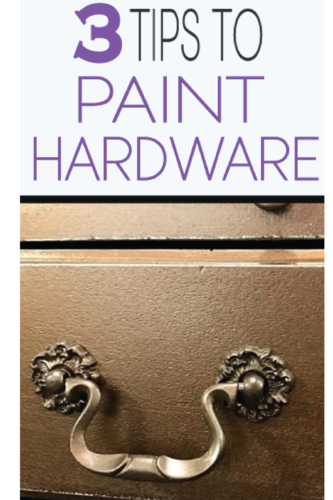 Learn how to paint knobs, hardware and drawer pulls!