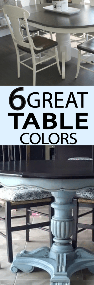 6 Classic colors for kitchen tables! PAINTEDFURNITUREIDEAS.COM
