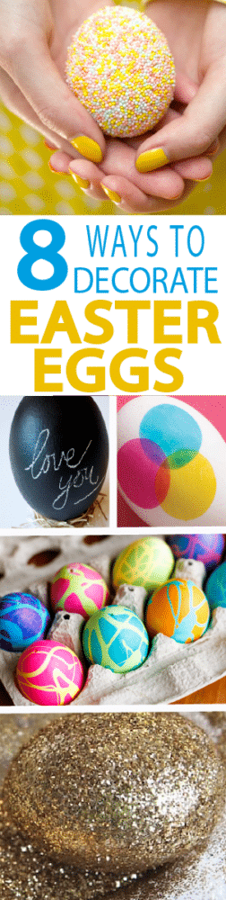 Tired of the boring egg dyeing tradition? Try something new with these 8 Tutorials to decorate Easter eggs!