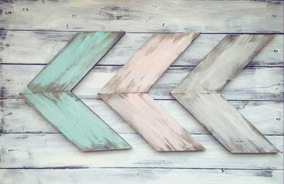 rustic pastel arrow