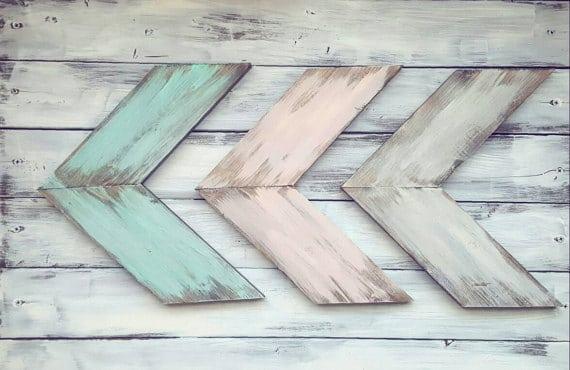 rustic pastel arrow