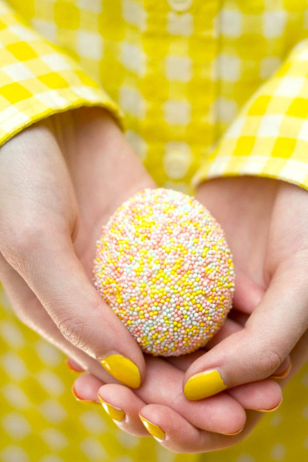 yellow easter eggs