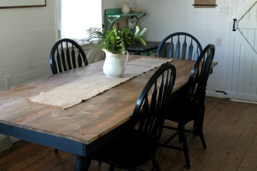 black and stain tables