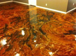 staining garage floor