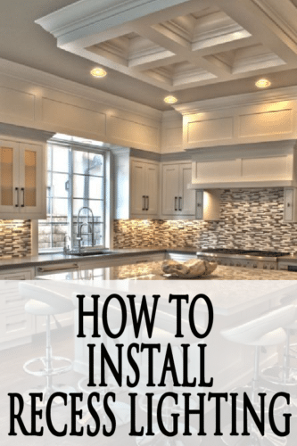 Learn how to install recessed lighting in your own kitchen!PAINTEDFURNITUREIDEAS.COM