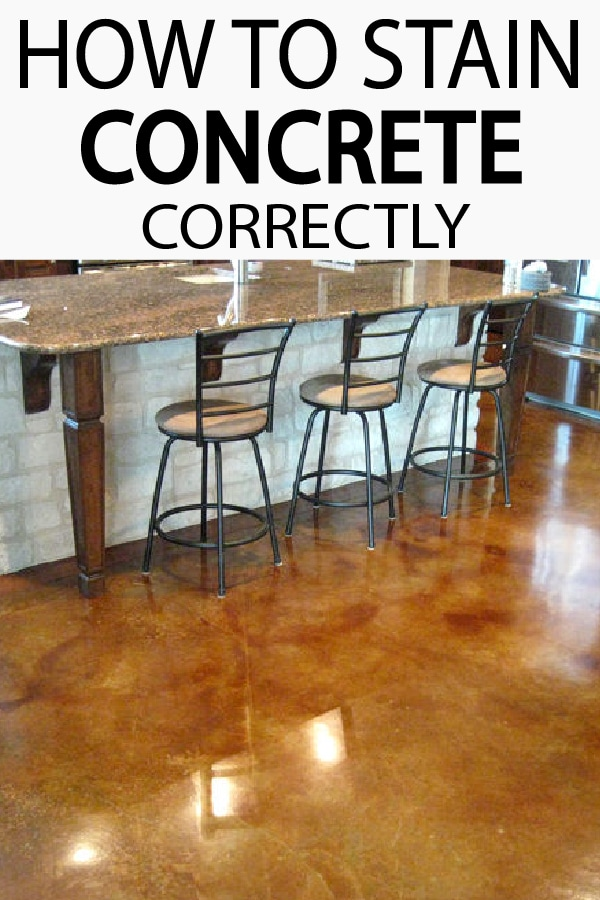 Laundry room, garage floors or patios, learn how to stain your concrete like a pro!