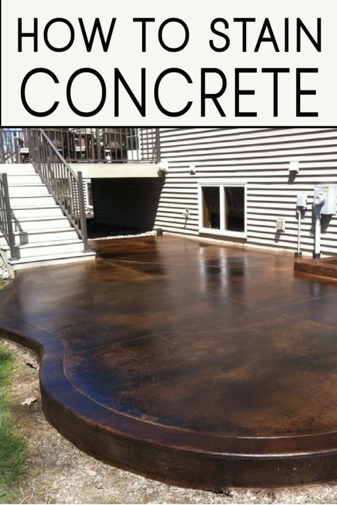 Learn how to stain concrete correctly! Take a DIY summer project and make it beautiful with these great tips and steps!